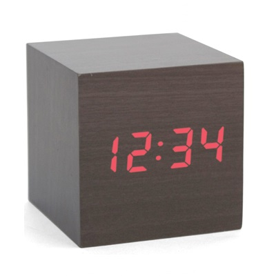 Réveil Cube Kikkerland