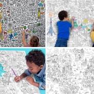Cadeaux ludiques pour enfants : Des posters à colorier !
