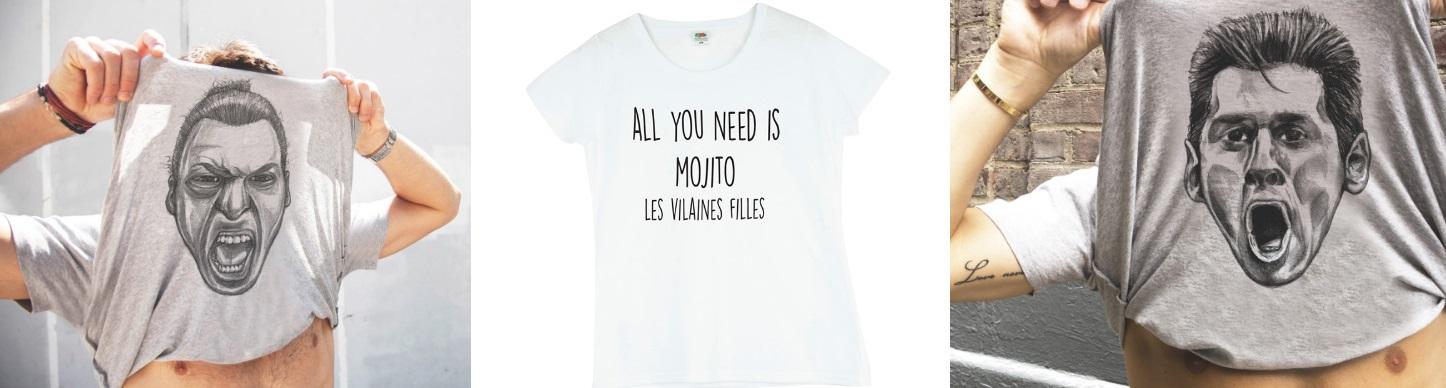 Tee shirts pour hommes et femmes