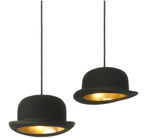 lampe suspension chapeau-melon