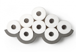 support etagere beton papier toilette